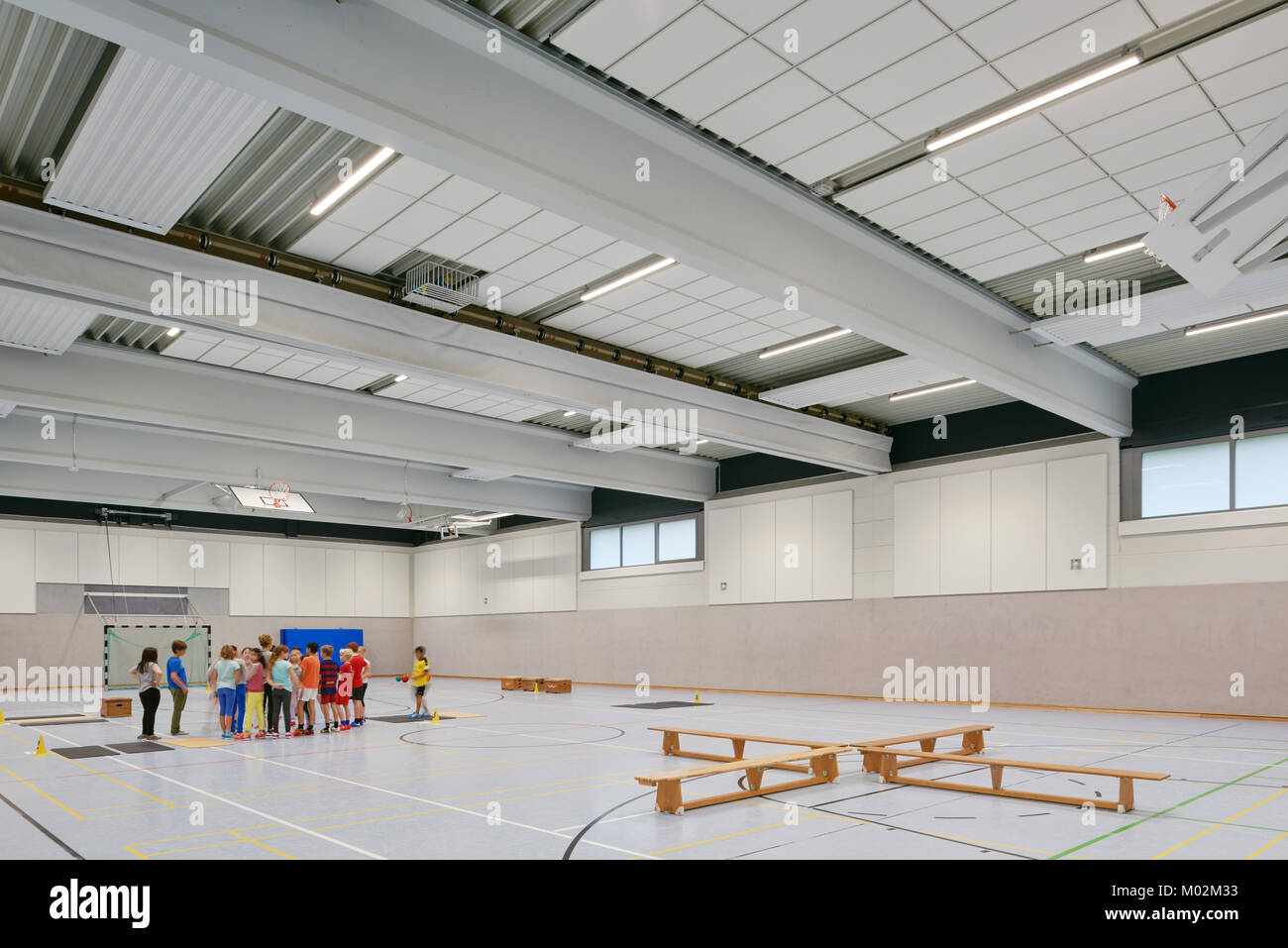 Schulsporthalle Hemmingen - Stock Image