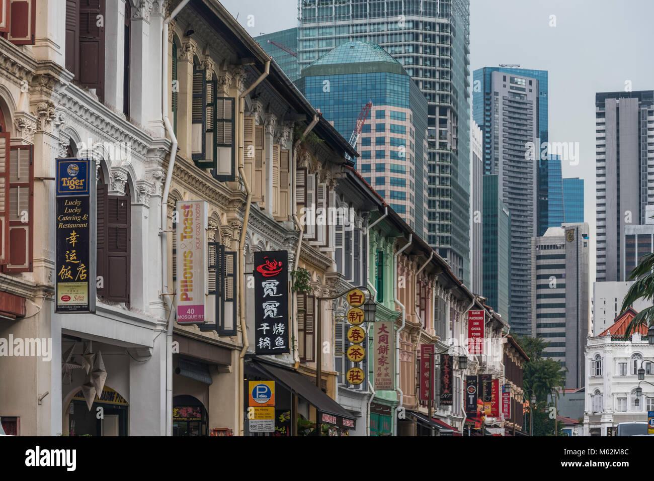 Mosque Street, Chinatown, Singapore Stock Photo