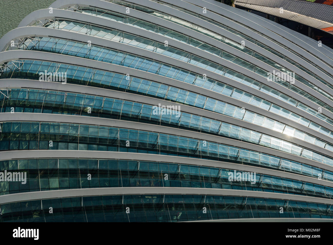 architecture of Downton Core, Marina Bay, Singapore - Stock Image