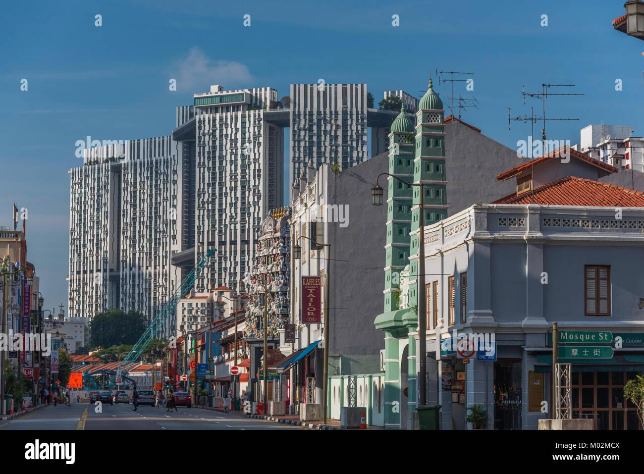 South Bridge Road, Chinatown, Singapore - Stock Image