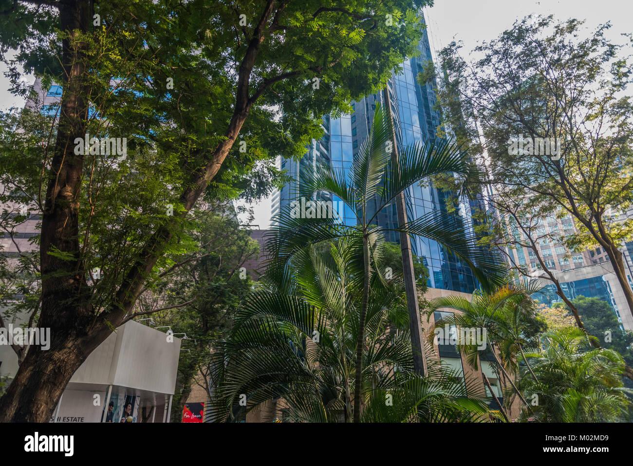 architecture of Downton Core, Marina Bay, Singapore - Stock Image