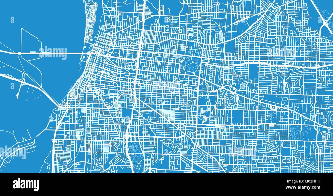 Urban vector city map of Memphis, Tennessee, USA Stock Vector Art ...