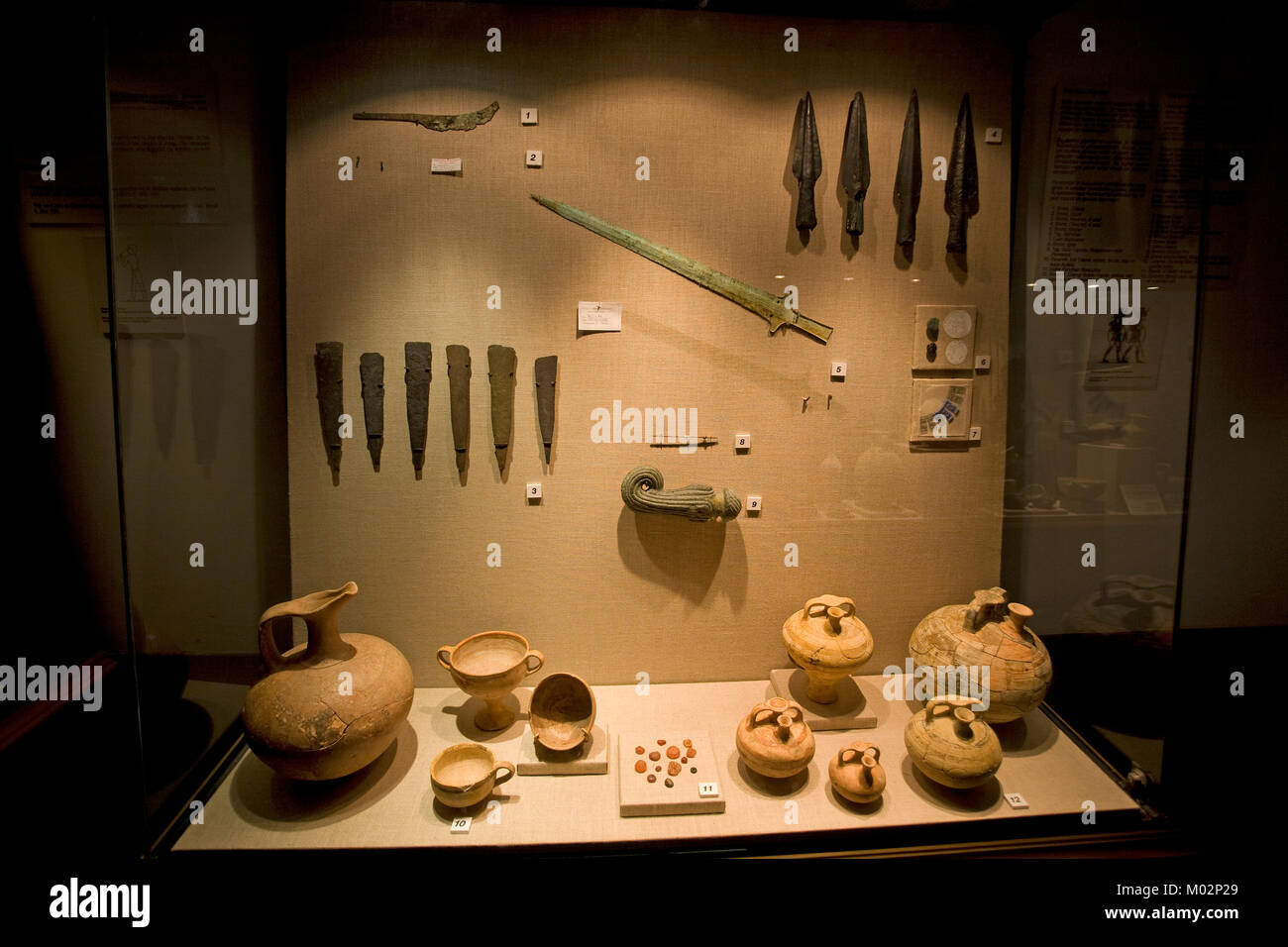 Findings of Uluburun wreck, oldest ship wreck of the world, 3300 years old, museum at Bodrum, Aegaen, Turkey, Mediteranean Stock Photo