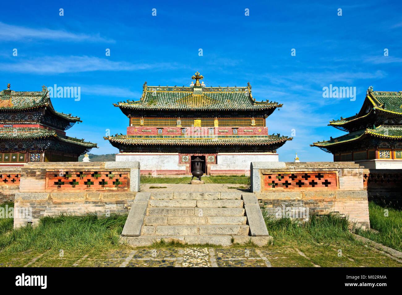 Mongolia, Kharkhorin: temple of the Erdene Zuu Monastery - Stock Image