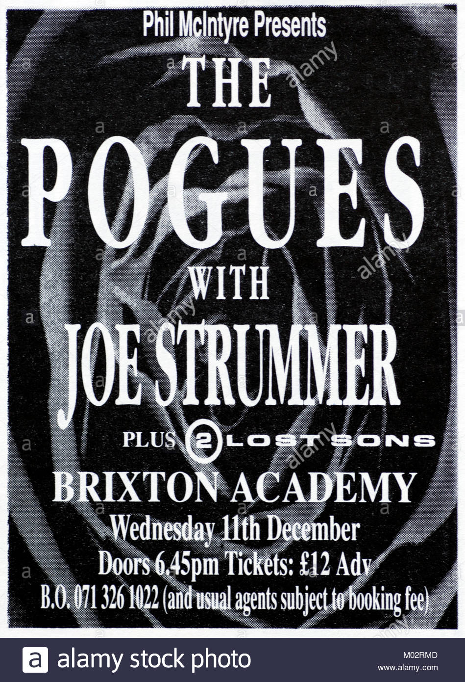Magazine advert with UK tour dates for The Pogues 1992 - Stock Image