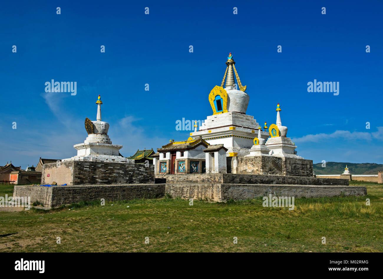 Mongolia, Kharkhorin: Golden stupa or Bodhi Suburgan at Erdene Zuu Monastery - Stock Image
