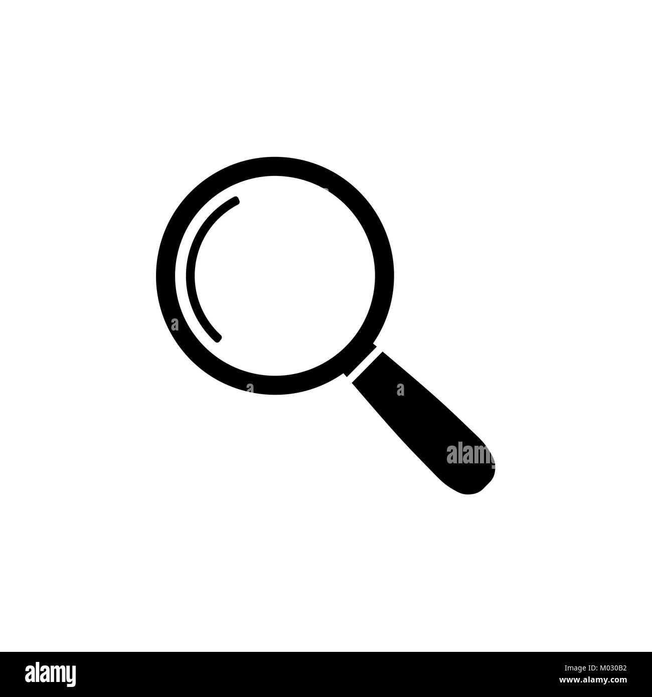 Magnify icon. Magnifying glass sign. Search icon - Stock Image
