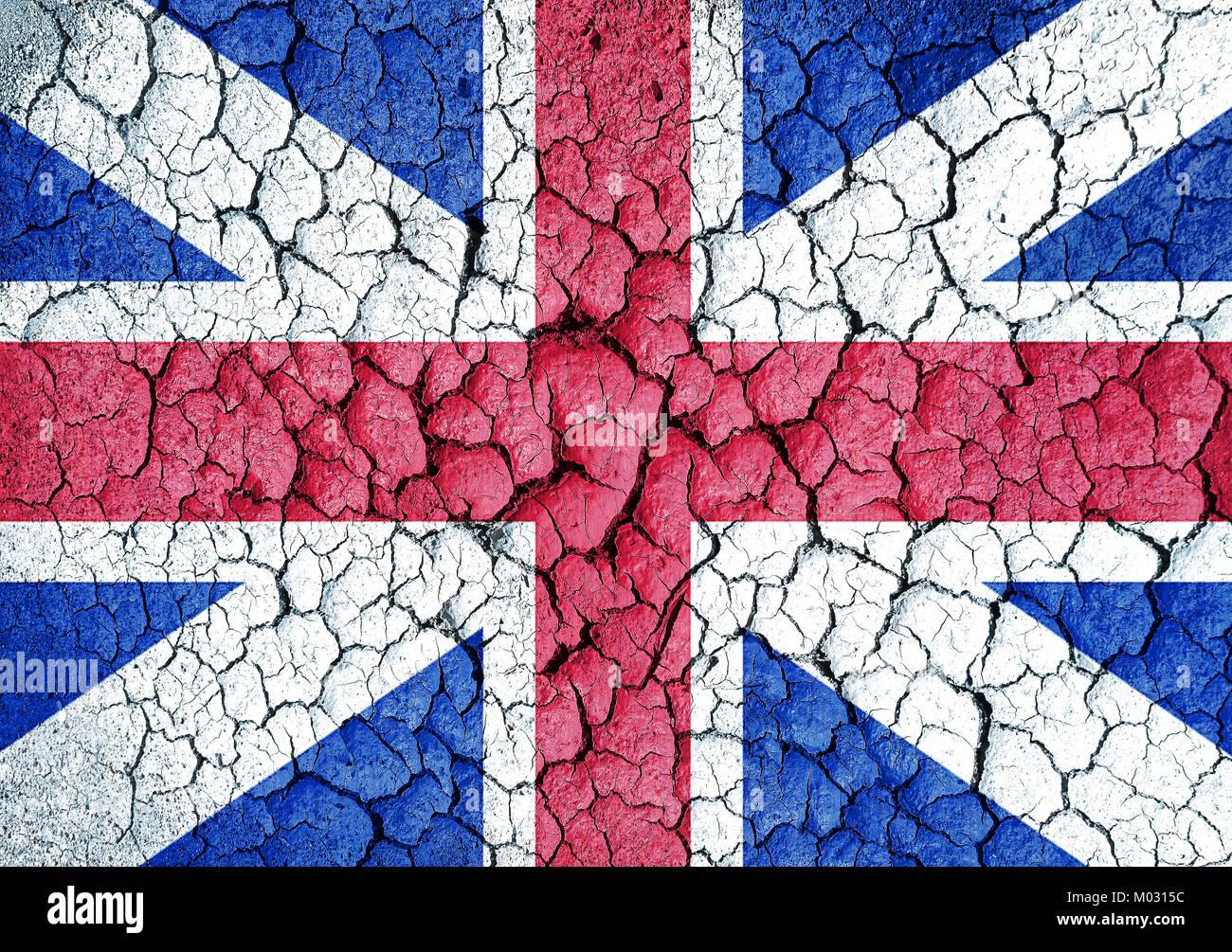 United Kingdom grunge flag - Stock Image