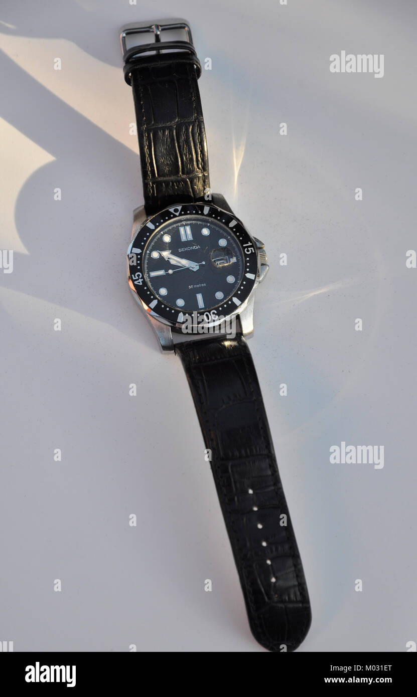 sekonda man's watch - Stock Image