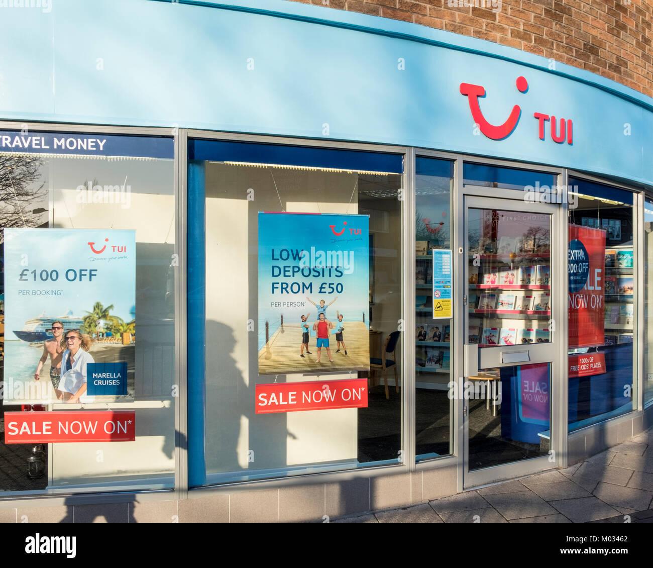 Tui travel agency, Nottinghamshire, England, UK - Stock Image