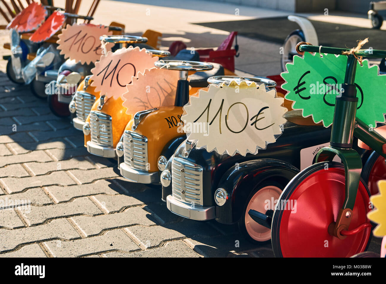 Toy cars being sold on the street - Stock Image