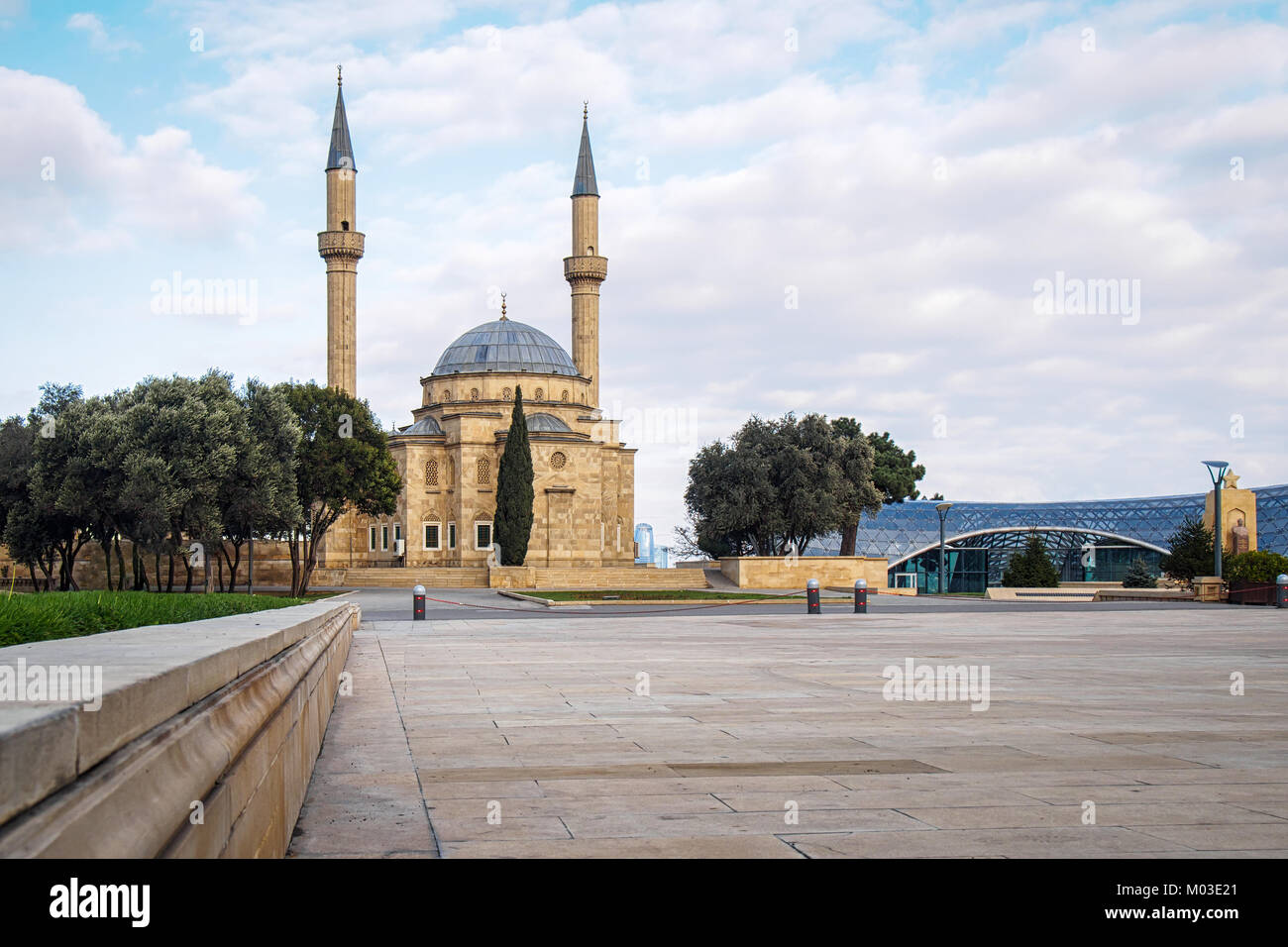 The Mosque of the Martyrs or Turkish Mosque in Baku, Azerbaijan Stock Photo