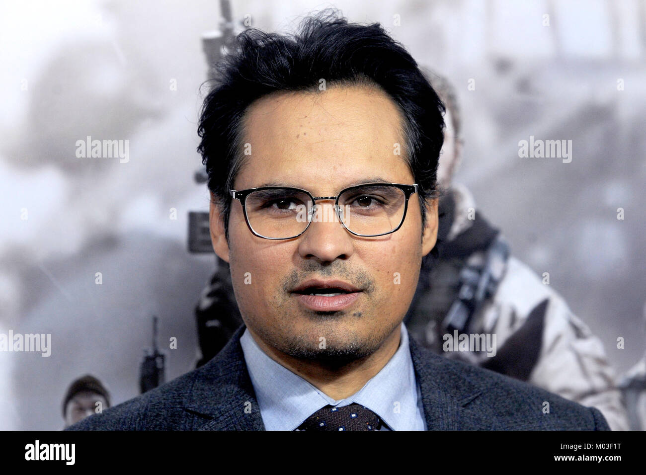 Michael Pena attends the '12 Strong' World Premiere at Jazz at Lincoln Center on January 16, 2018 in New York City. Stock Photo