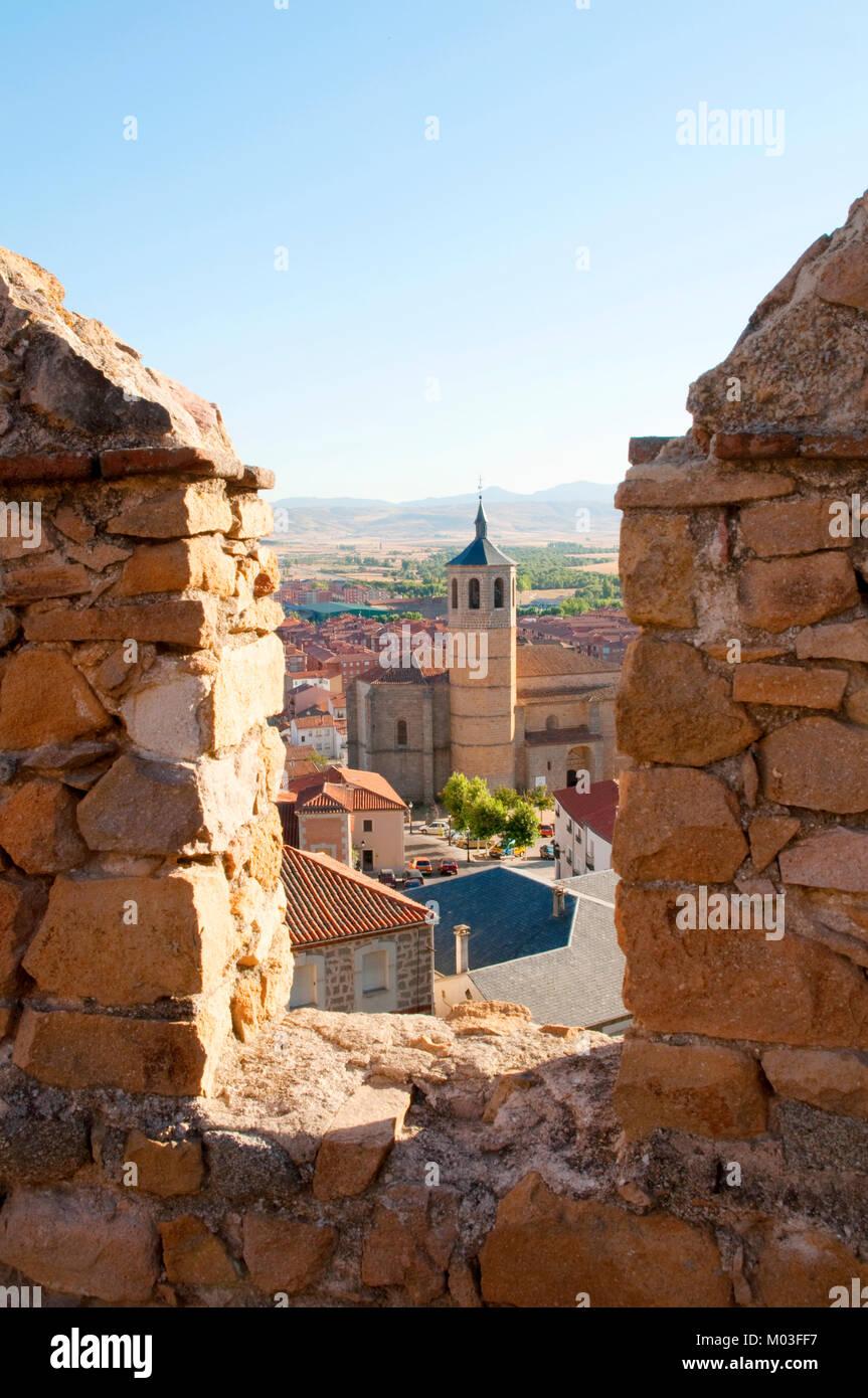 View from the city wall. Avila, Castilla Leon, Spain. - Stock Image