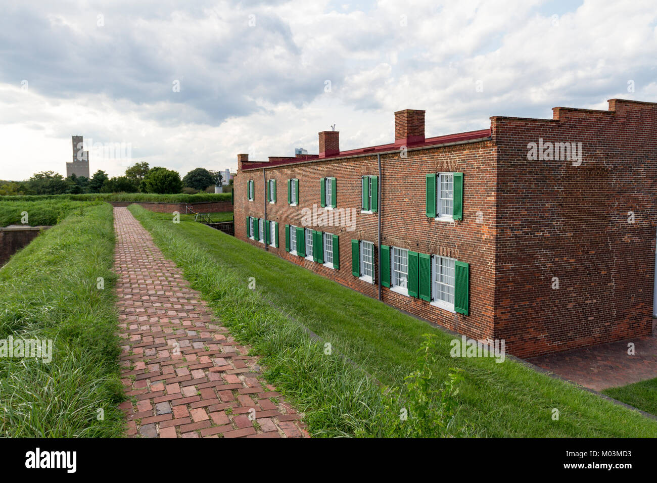 Barrack building inside Fort McHenry, Baltimore, Maryland, United States. - Stock Image