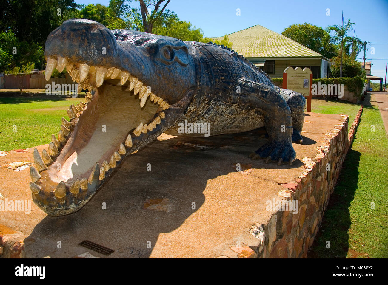 Kyrs the Crocodile, 8.63m, Normanton North Queensland - Stock Image