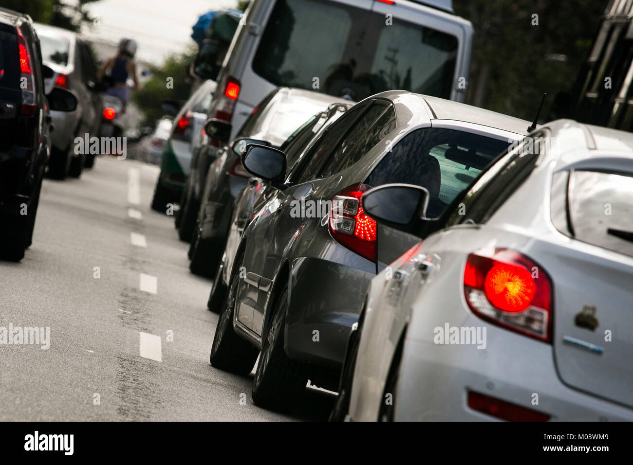 SÃO PAULO, SP - 18.01.2018: IPVA 2018 - 3% discount payment for vehicles with final plate 8 expires this Thursday Stock Photo