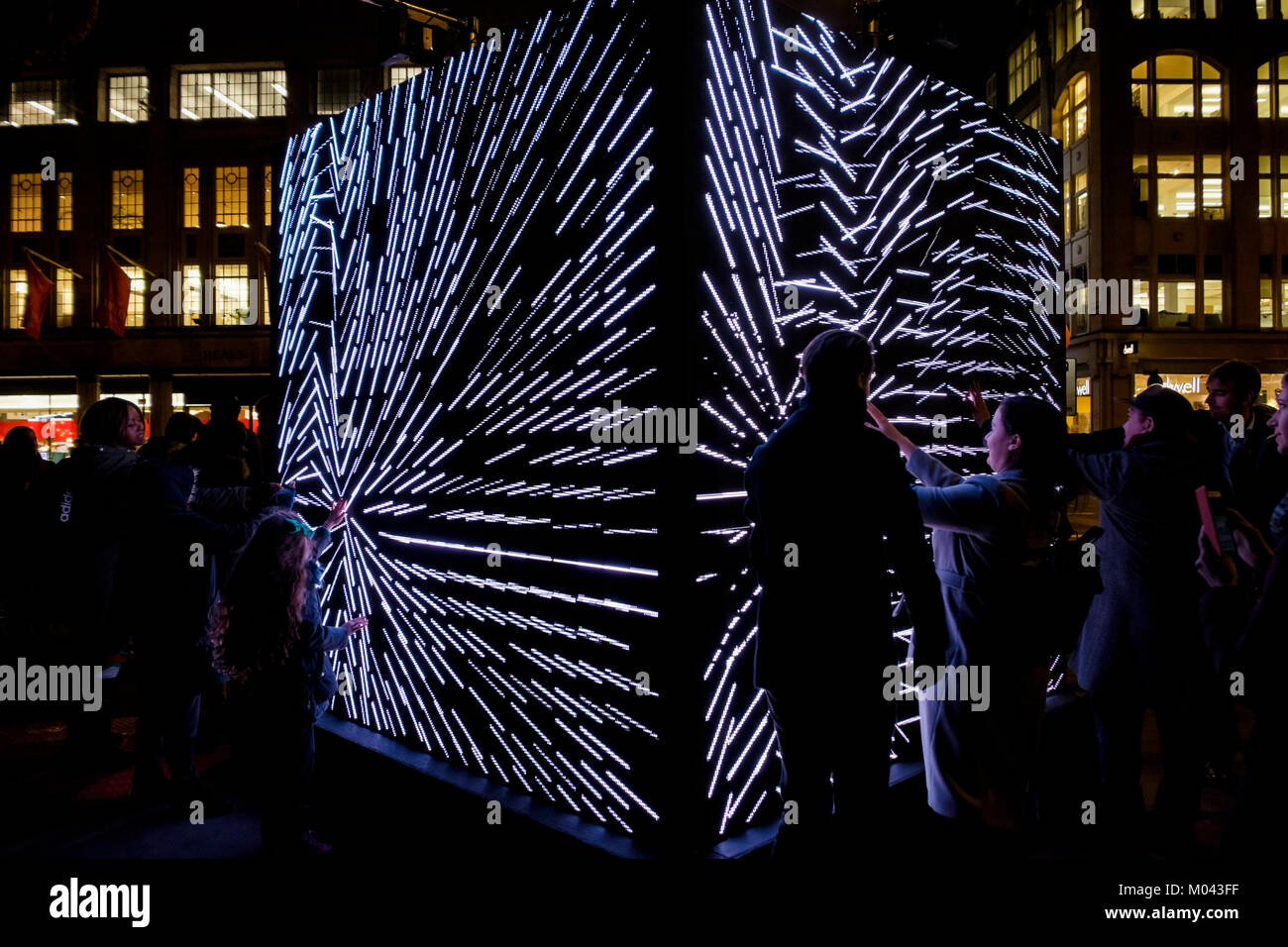 London, UK. 18th Jan, 2018. Lumiere London light festival returns for the second time. More than fifty artworks Stock Photo