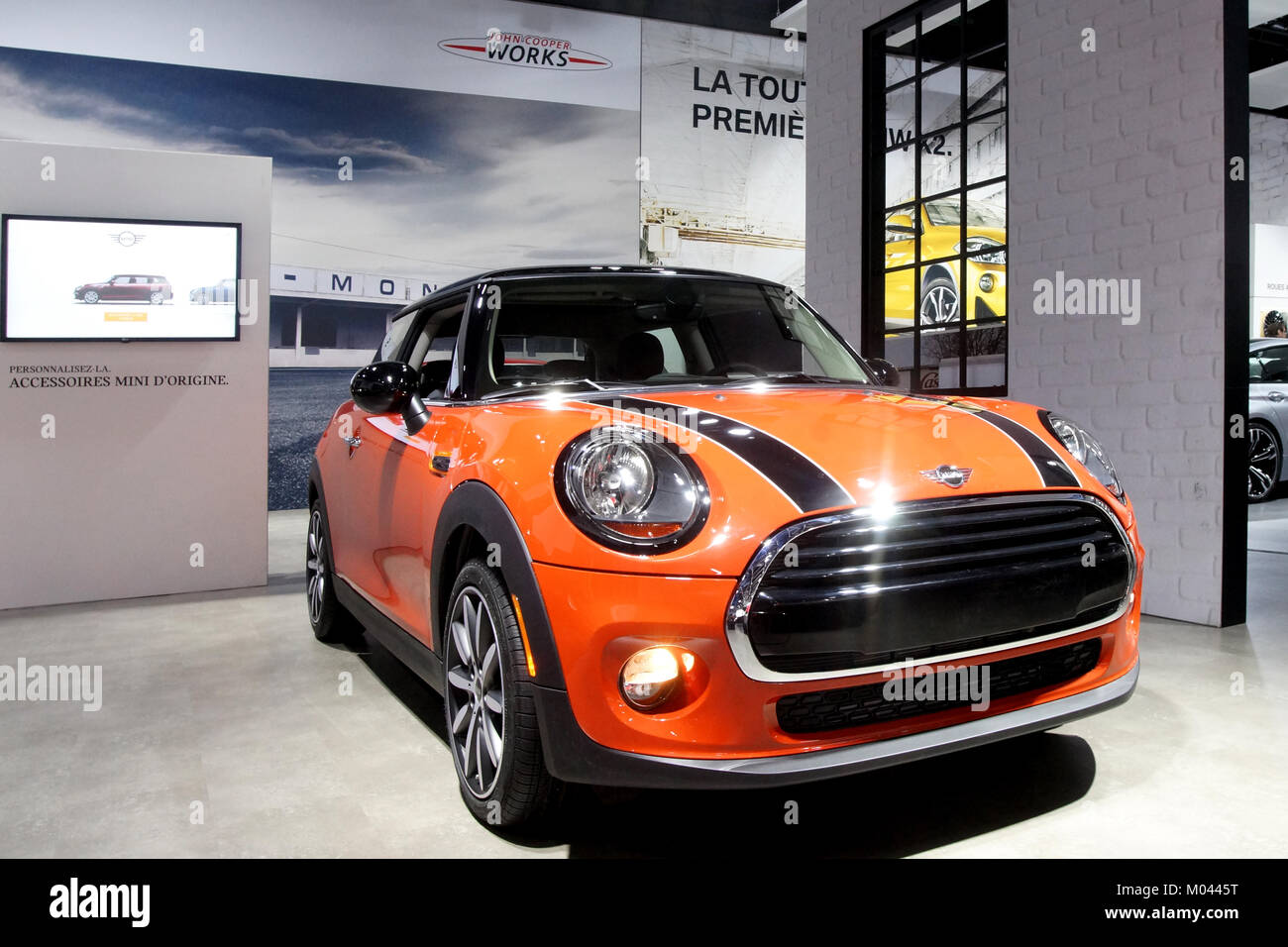 Montreal Canada 18th Jan 2018 The Mini Cooper Sports Car On
