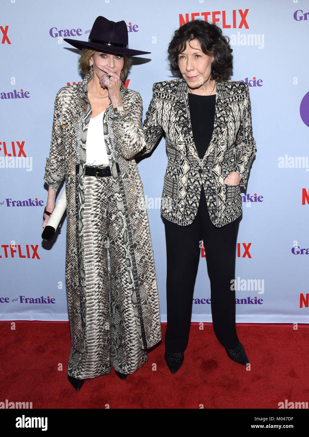 Culver City, California, USA. 18th Jan, 2018. Lily Tomlin and Jane ...
