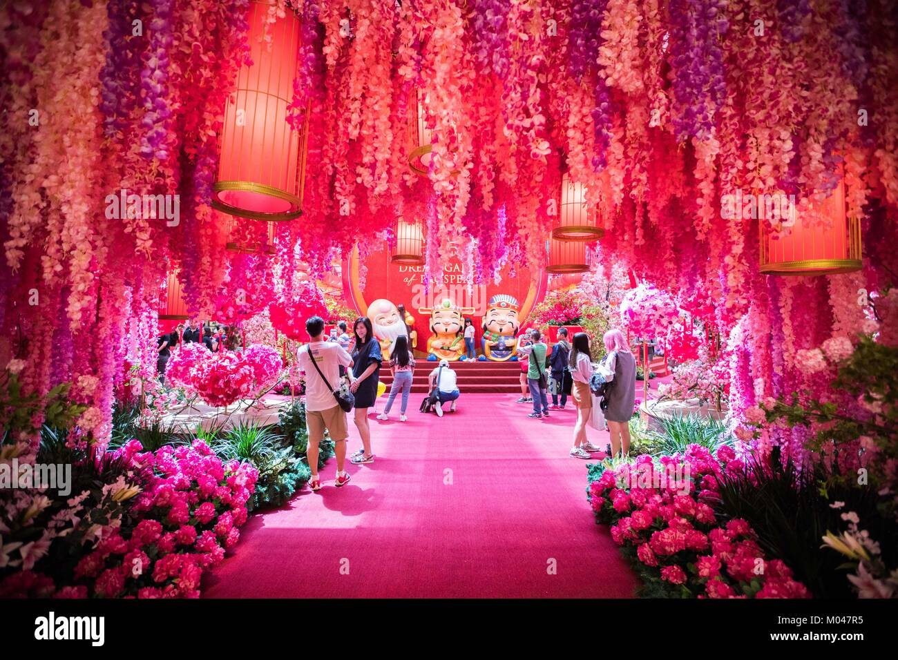Kuala lumpur malaysia 19th jan 2018 people visit the decoration kuala lumpur malaysia 19th jan 2018 people visit the decoration named dream garden of prosperity which is set to welcome the upcoming chinese lunar junglespirit Images