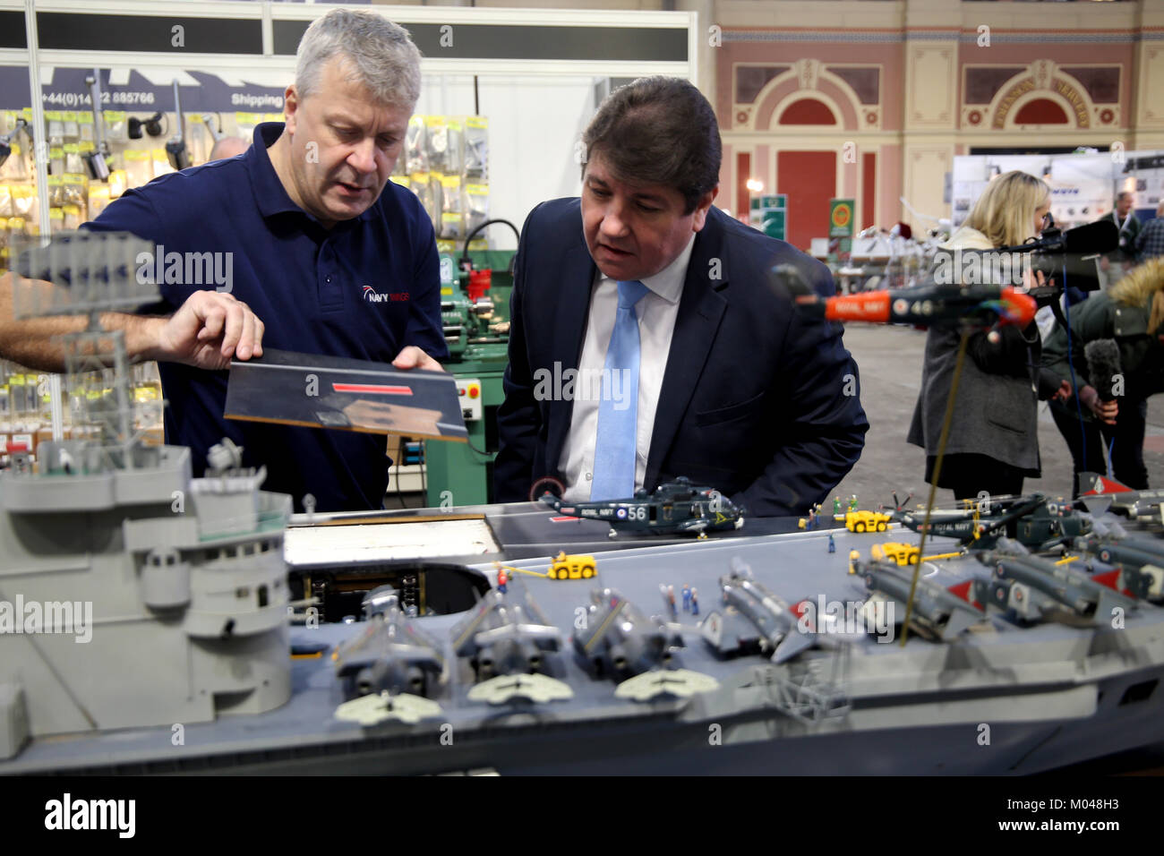 London, UK. 19th Jan, 2018. Royal Navy veteran Dave Fortey unveiling the work of a life time he has spent the last - Stock Image