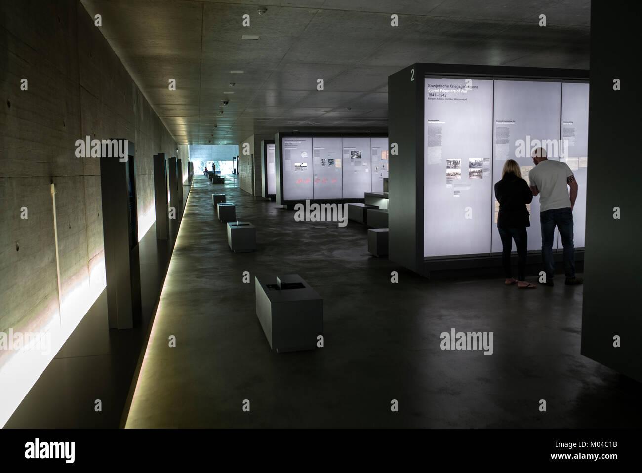Documentation Centre at Concentration Camp Bergen-Belsen Germany - Stock Image