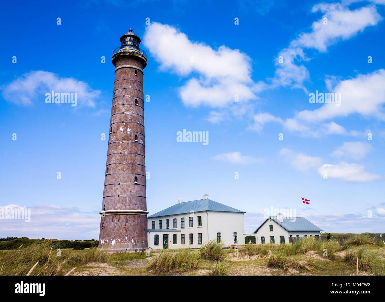 The lighthouse at skagen denmark - Stock Image