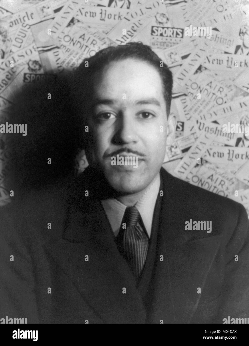 Langston Hughes. The American poet, playwright and acivist James Mercer Langston Hughes (1902-1967), photography - Stock Image