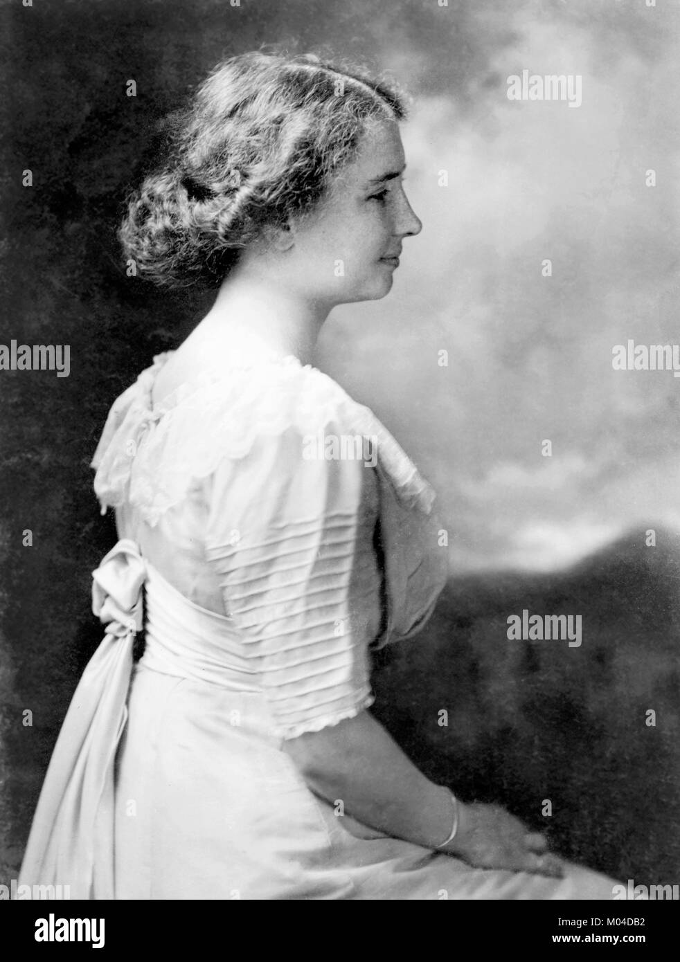 Helen Keller (1880-1968). Phototgraph of the deaf-blind author and political activist c.1909 - Stock Image