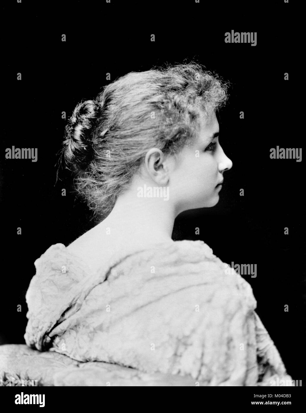 Helen Keller (1880-1968). Phototgraph of the deaf-blind author and political activist by C M Bell, c.1891/94 - Stock Image