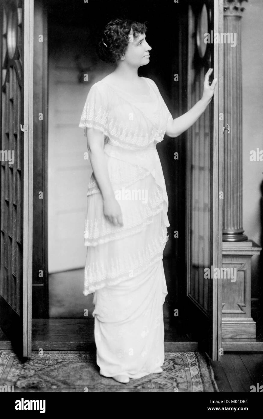 Helen Keller (1880-1968). Phototgraph of the deaf-blind author and political activist by Gerhard Sisters, c.1914 - Stock Image