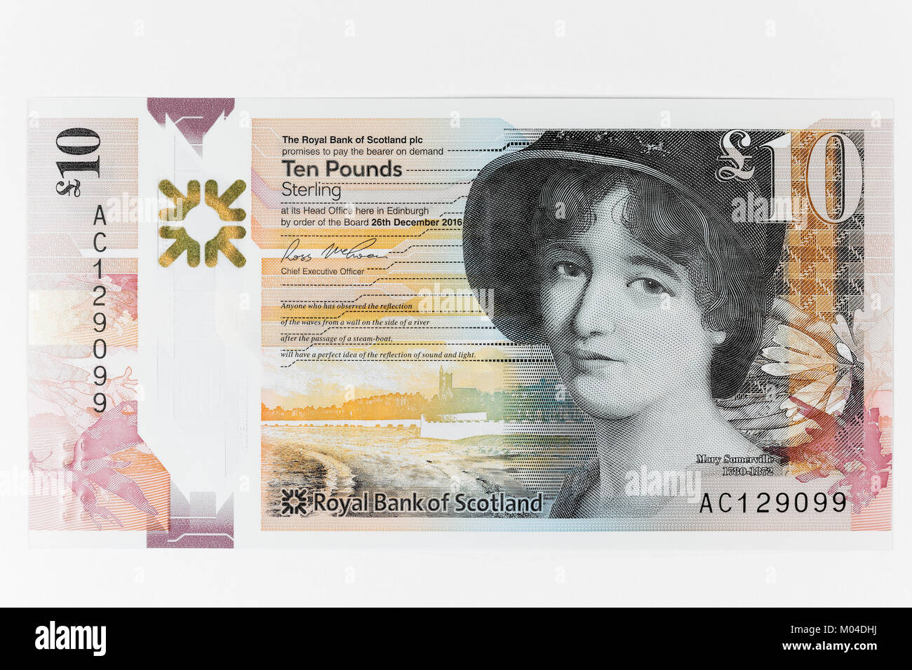 Scientist Mary Somerville became the first non royal female to feature on a Royal Bank of Scotland banknote since - Stock Image