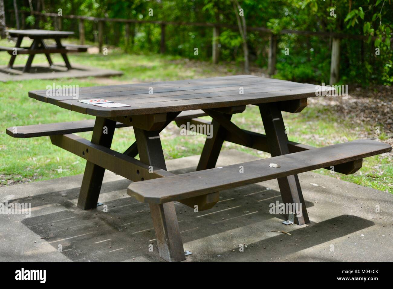 Stupendous Brown Wood Public Picnic Table And Chairs Alternatively Gmtry Best Dining Table And Chair Ideas Images Gmtryco