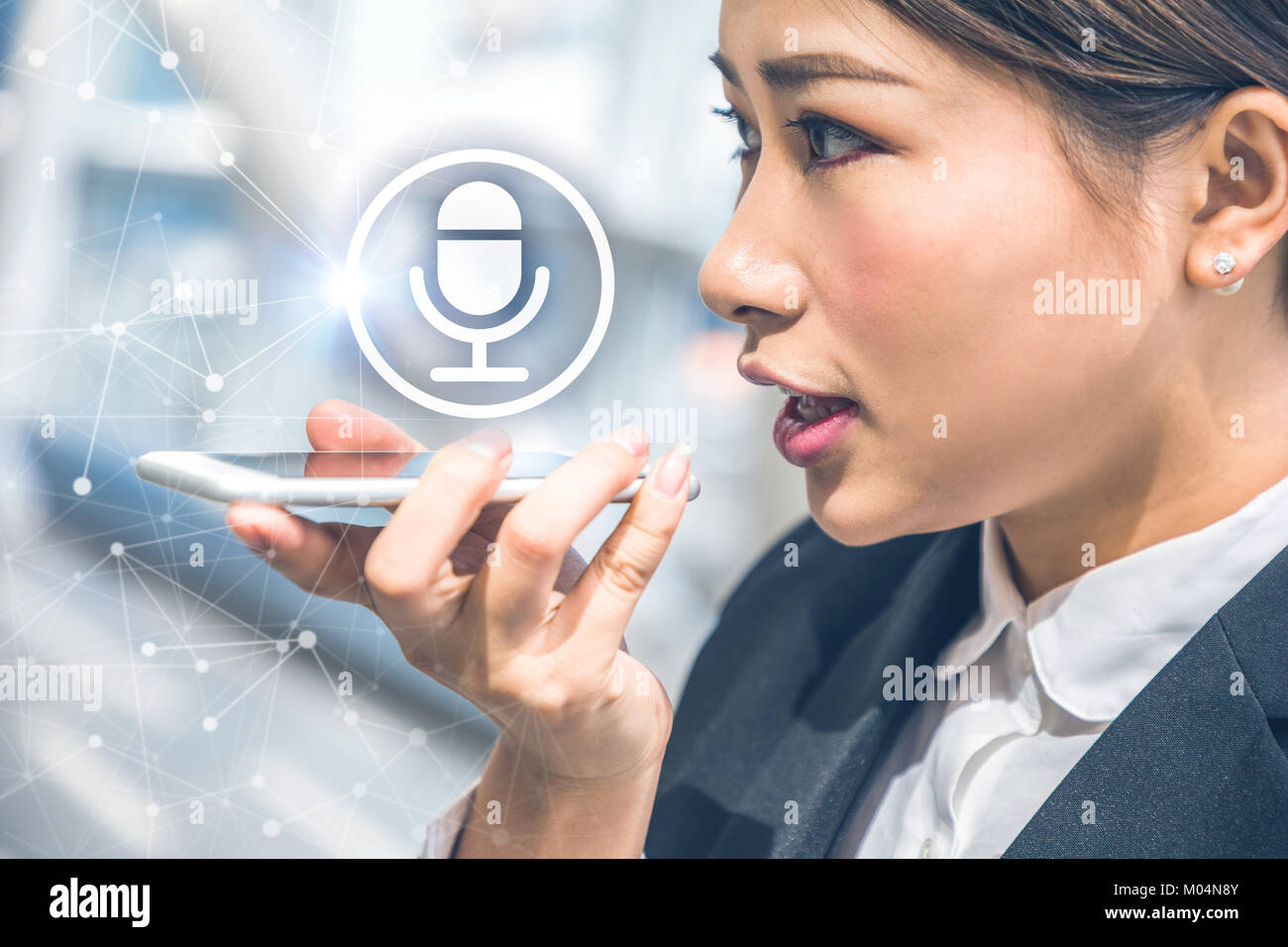 Voice recognition concept. - Stock Image