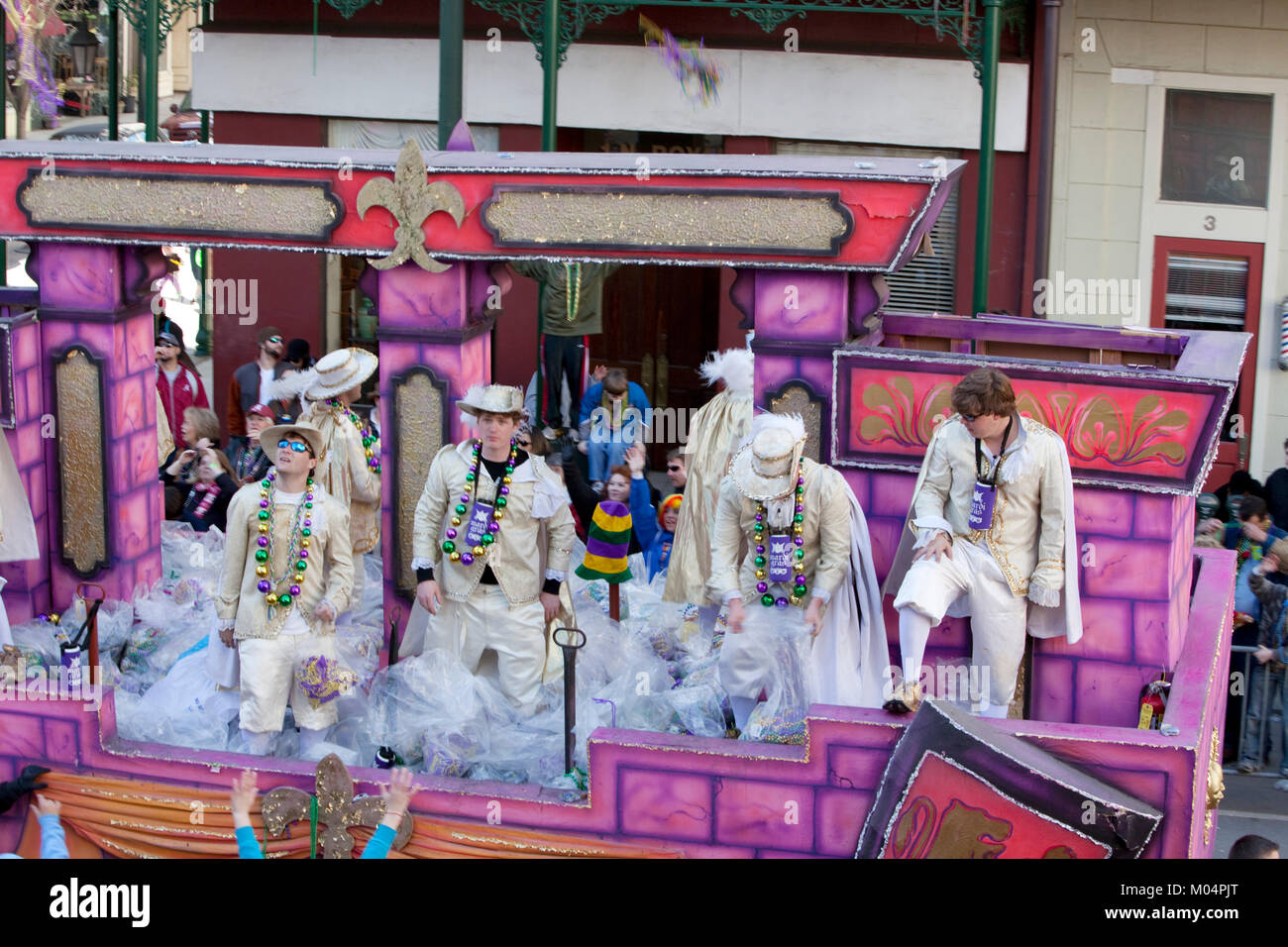 Mardi Gras Float - Stock Image