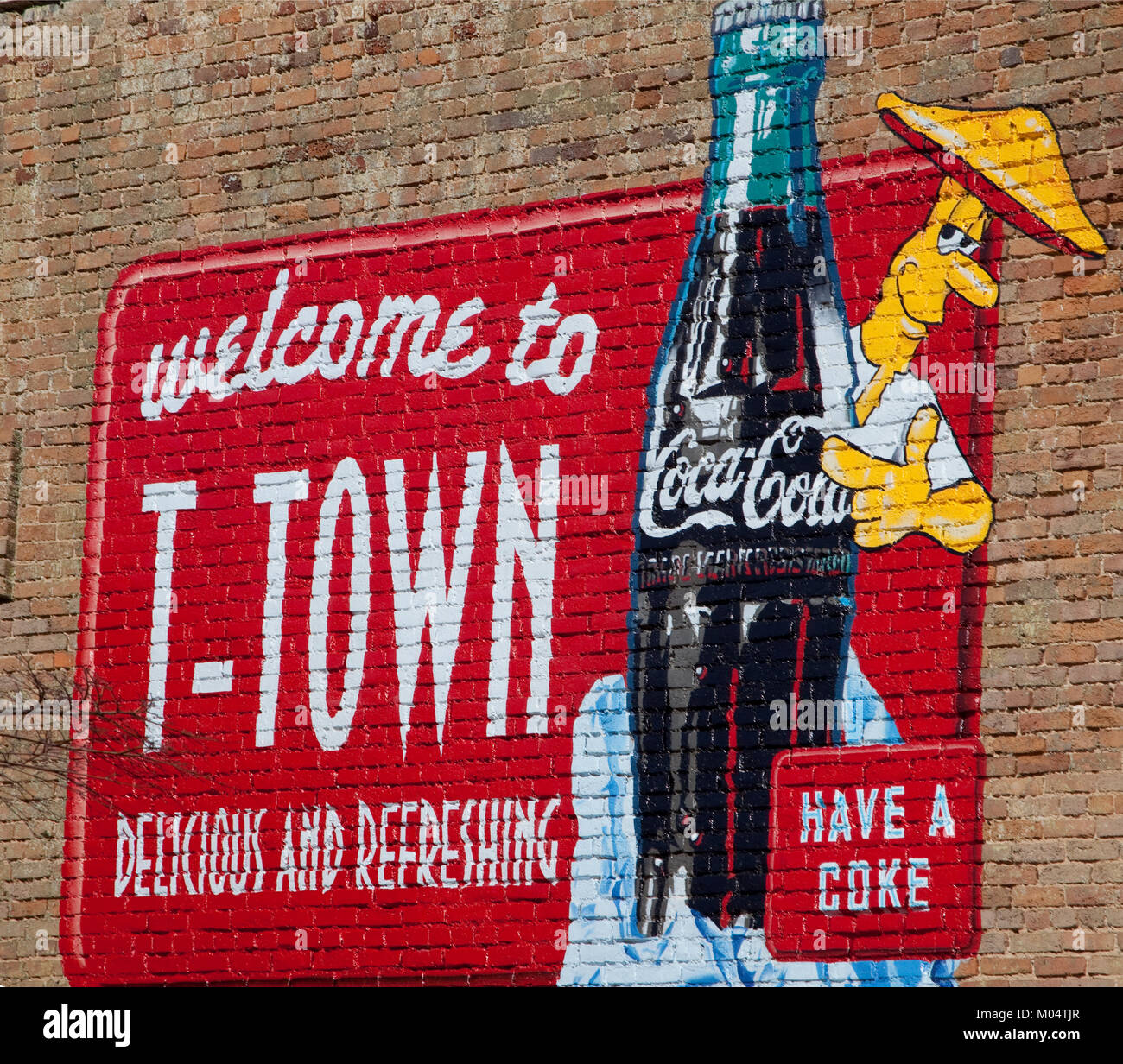 Tuscaloosa, Alabama is also known as T-Town - Stock Image