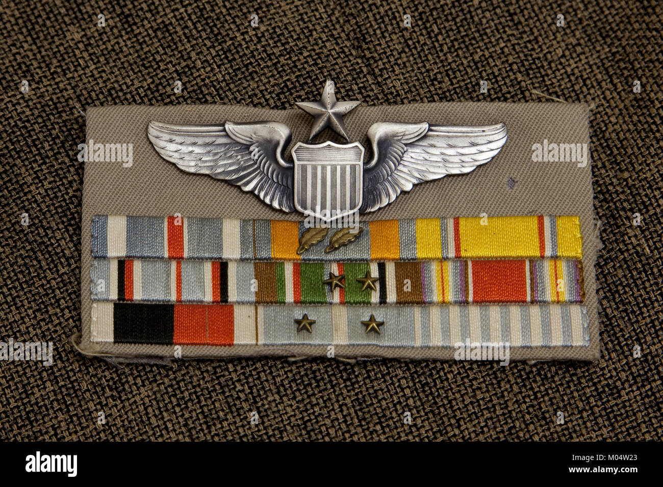 Medal Grouping from Tuskegee Airmen - Stock Image