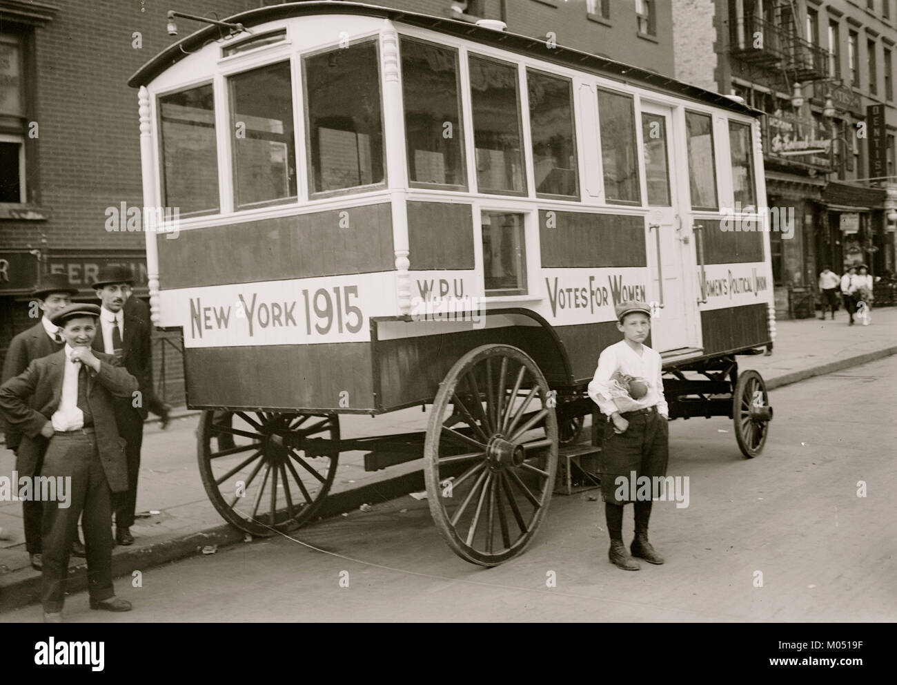 Suffrage Shop On Wheels - Stock Image