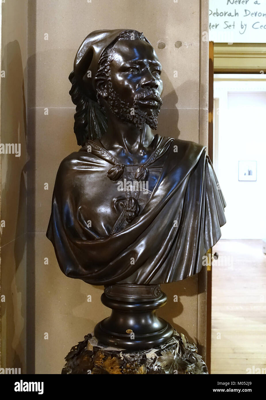 Bust of Said Abdullah of the Darfour People, 1848, by Charles-Henri-Joseph Cordier, bronze - Chatsworth House - - Stock Image