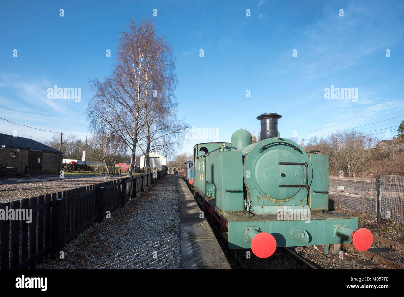 Old No 9 Steam Locomotive at Summerlee Industrial Heritage park. - Stock Image
