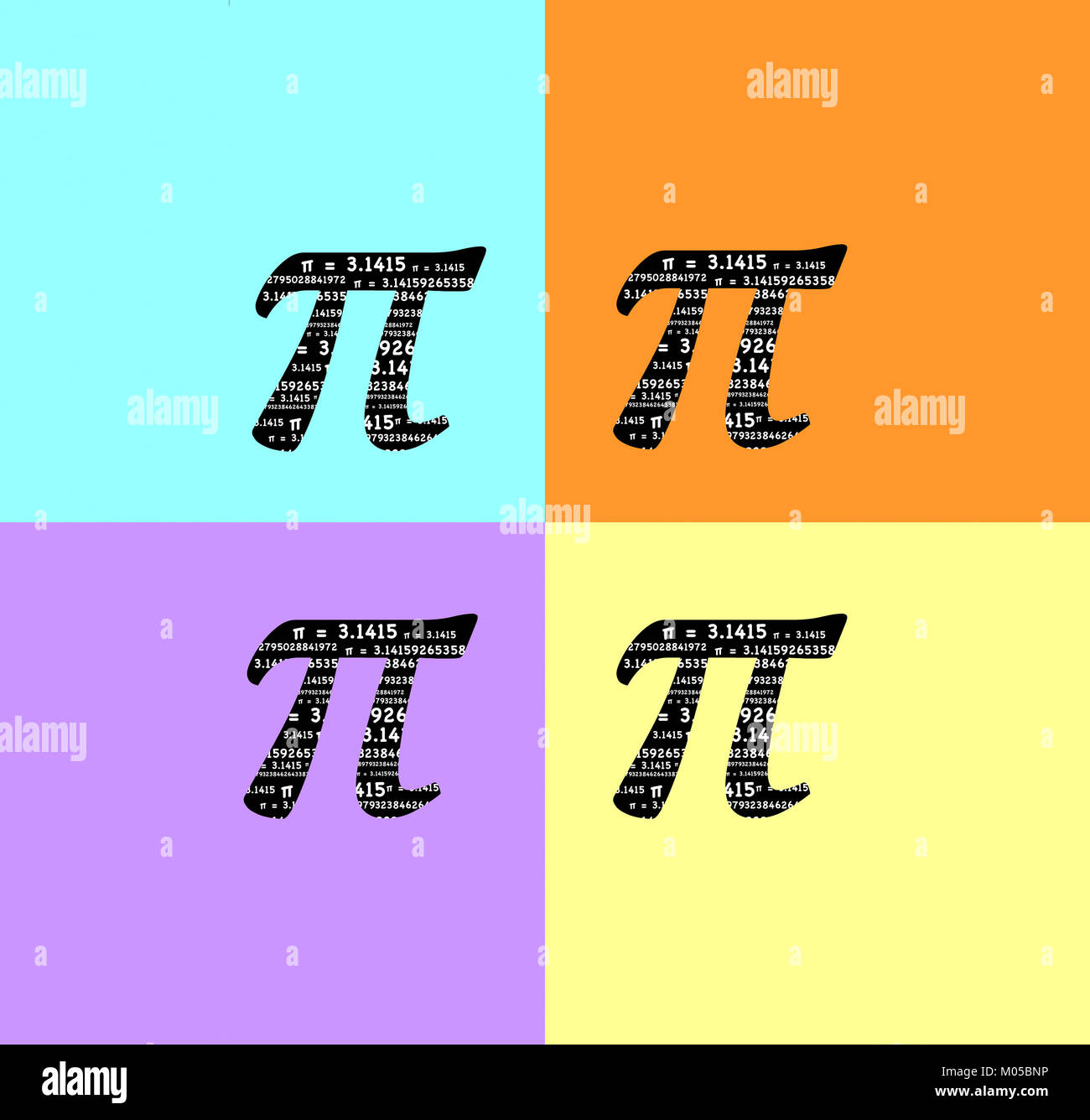 Pi Symbol With The Sum Formula 3141592653 Etc Inside The Symbol