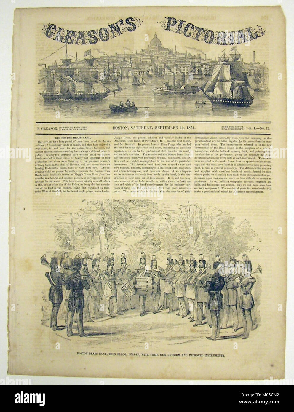 Boston Brass Band newspaper illustration MET MIDP2005.126.4 - Stock Image