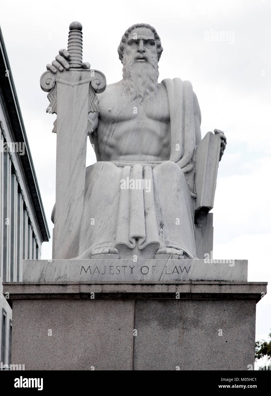 Majesty of Law statue - Stock Image
