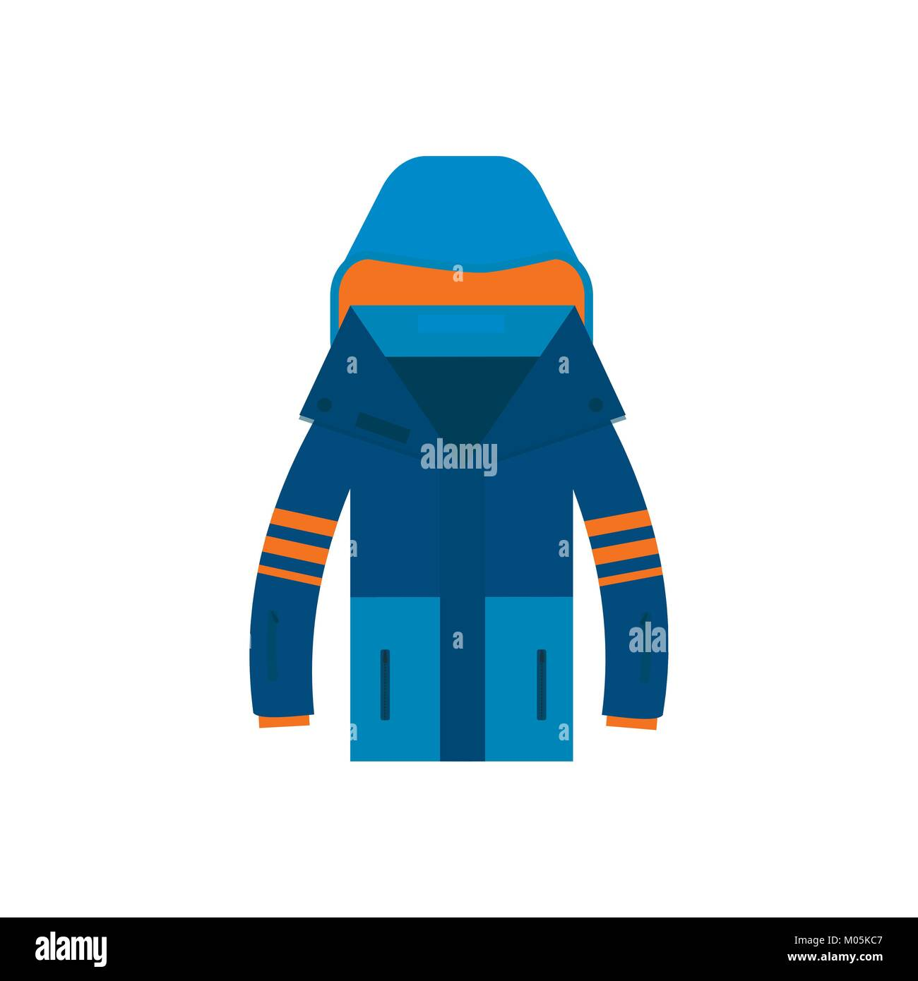 af2977a7473f Winter sport icon jaket for Skiing and snowboarding isolated on white  background in flat style design. Elements for ski resort picture, mountain  acti