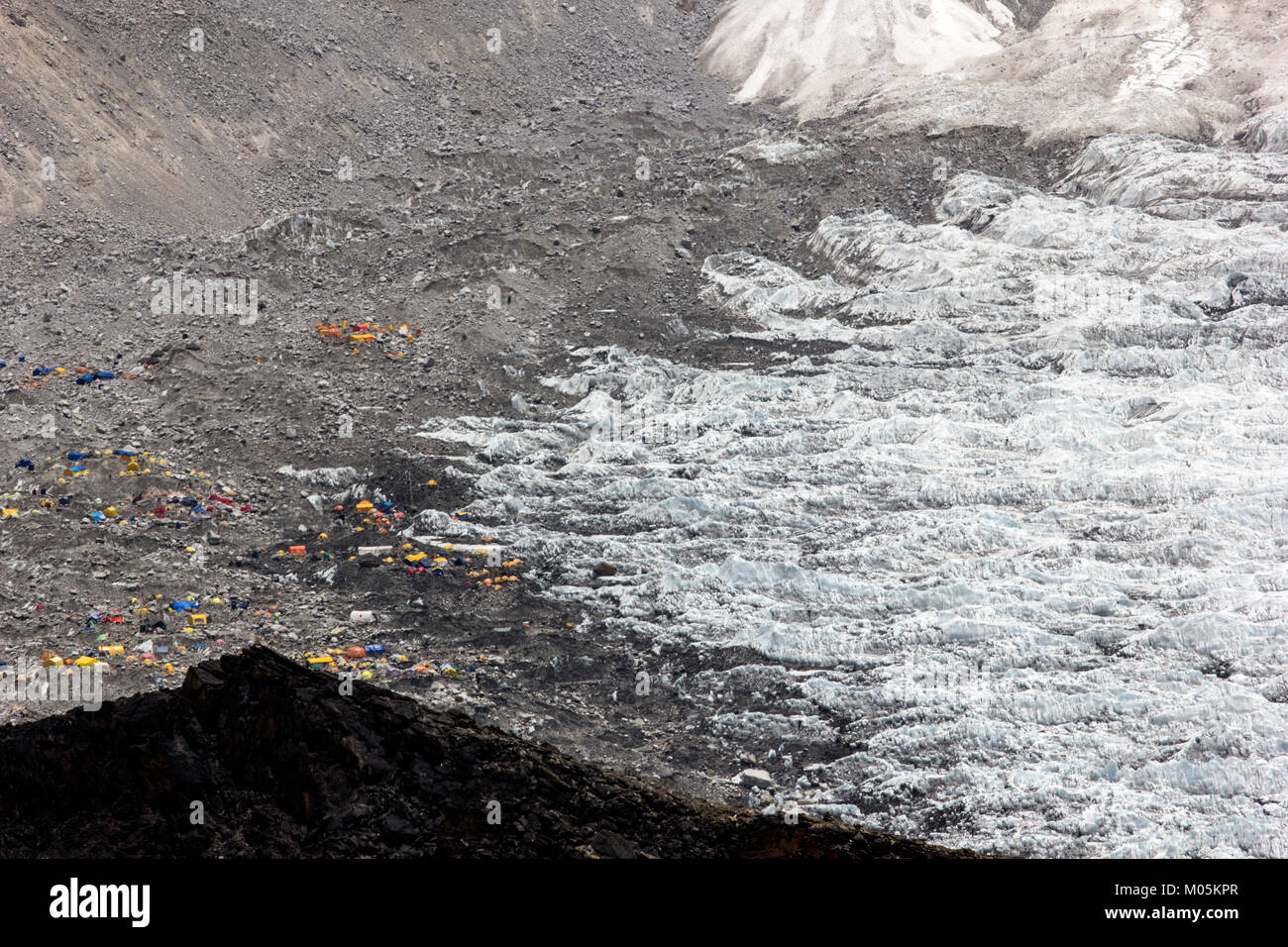 Everest base camp in Everest region Nepal. - Stock Image
