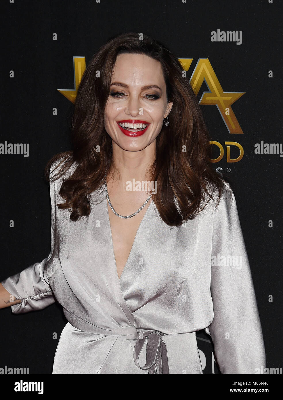 Angelina Jolie Us Film Actress Attends The 21st Annual