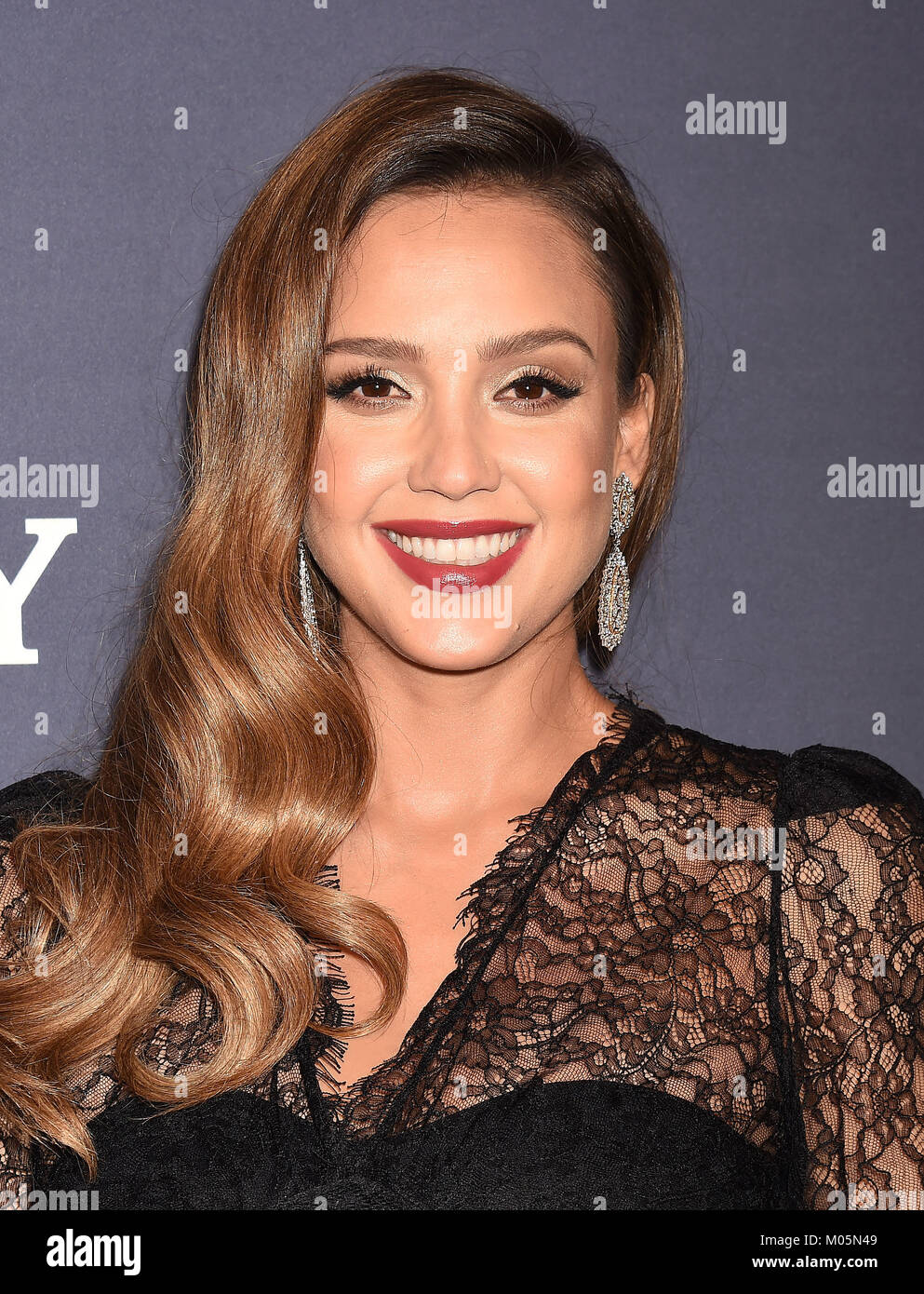 JESSICA ALBA US film actress  attends the 2017 Baby2Baby Gala at 3Labs on November 11, 2017 in Culver City, California. - Stock Image