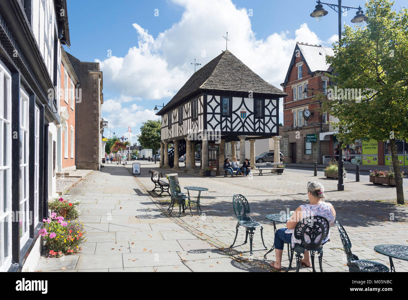 Town Hall Tea Rooms, High Street, Royal Wootton Bassett, Wiltshire, England, United Kingdom Stock Photo