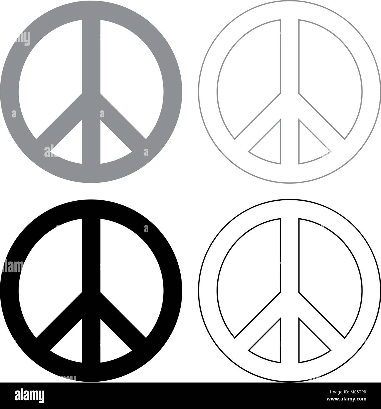 Peace sign stock vector images alamy world peace sign symbol icon illustration grey and black color fill and outline biocorpaavc Choice Image